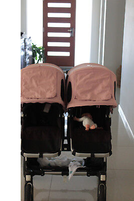 bugaboo donkey breezy sun canopy x 1 pink (pram not included)