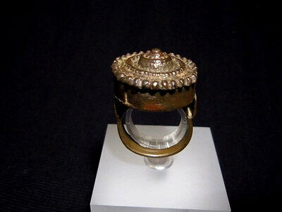 MAGNIFICENT, ANTIQUE HUGE BRONZE RING, known as REX RING, circa 1800s.!!!