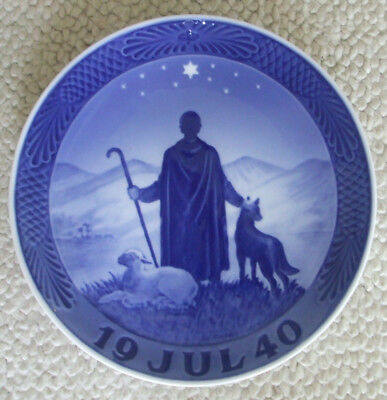1940 Royal Copenhagen Christmas Plate - Shepherd in the Desert - Rare Wartime