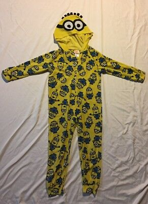 Despicable Me Minion Made Hooded  Pajama PJ Size 6 One Piece