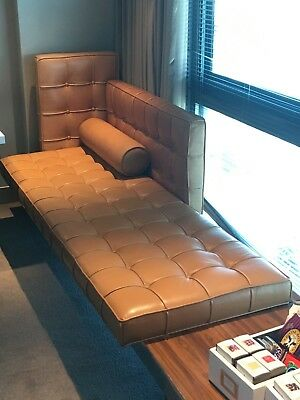 Philippe Starck Designed Leather Chaise-Tables by Cassina