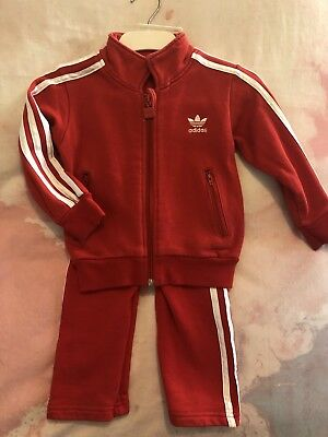 Adidas Red Tracksuit Size 2