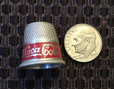 1920 Coca Cola Soda Pop ANTIQUE Enamel Coke Sewing Thimble