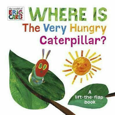 Where Is the Very Hungry Caterpillar? by Eric Carle Board Books Book Free Shippi