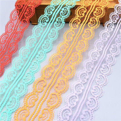 10Yards Lace Ribbon 45MM Trim DIY Handicrafts Embroidered Cord Sewing Decoration