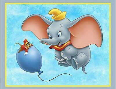 Disney Dumbo Flying High Quilt Panel * New * Gorgeous * Free Post *