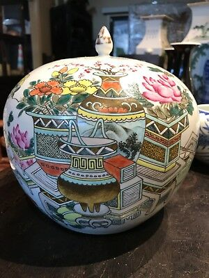 Antique Chinese Old House Porcelain Big Bowl Signed And Marked Asian China