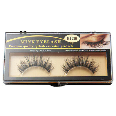 1 Pair Fashion 3D Beauty 100% Horsehair False Eyelashes Makeup Thick Long M P3T6
