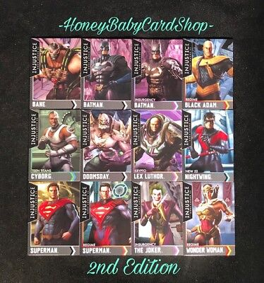 Injustice Arcade Dave and Busters Gold Starter Set 12 Cards