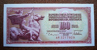 Yugoslavia 1978 100 Dinara Bank Note...Crisp aUNC Condition