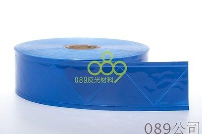 "Blue gloss REFLECTIVE sew on TAPE PVC 2""   20 Foot=6M=3.3 weight"