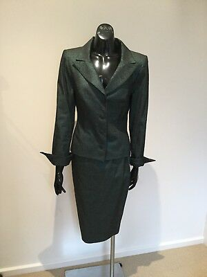 AG Alexis George 2pce Designer skirt and jacket suit size S 8-10 NWT $790 Green