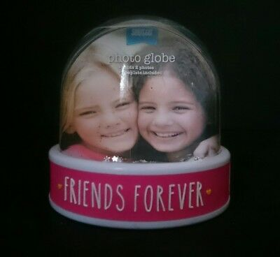 SNOW DOME Snowglobe Friends Forever Insert your own photo Double sided