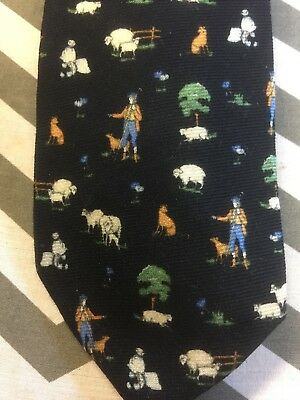 Men's Vintage/Retro Rural/Sheep Themed Wool Tie