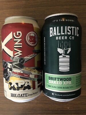 2 X 375 Mixed Australian Craft Beer Can Lager Microbrew Breweriana