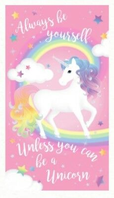 Glitter Quilt Panel * Always Be Yourself Unless You Can Be A Unicorn * Free Post