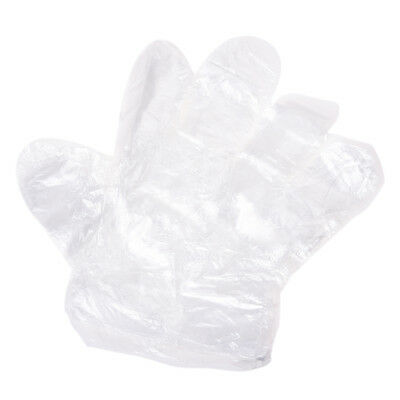 25 Pairs Food Service Clear Plastic Disposable Gloves N9R6