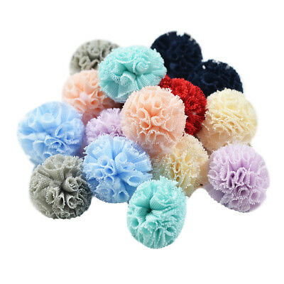 DIY handmade jewelry accessories mesh pom poms balls hair craft findings 16