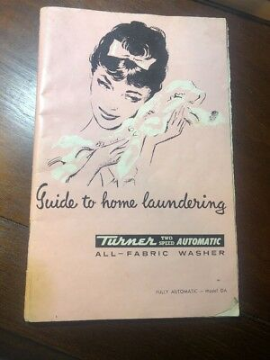 Vintage Washing Machine Manual - Turner Two Speed (including OMO)