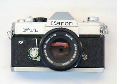 "CANON FTb 35mm SLR CAMERA WITH CANON FD 50mm 1:1.8 LENS   ""UNTESTED"""