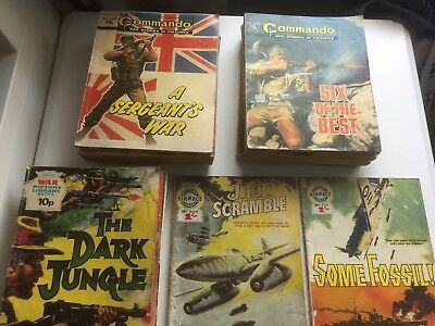 Commando comics x20 war comics x9 air ace x2