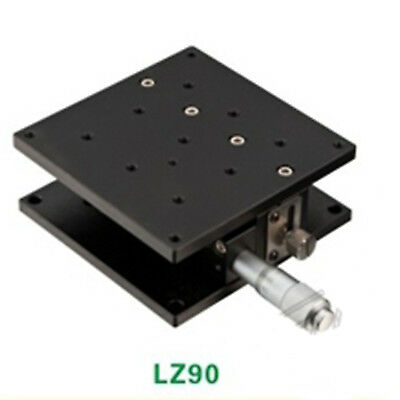 Z Level Axis 90X90MM Platform Bearing Linear Stage Load 49N One Guide