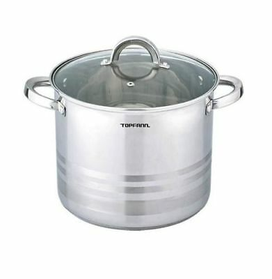 Deep Stainless Steel Stock Pot Stew Casserole Pan Inox Large All Sizes Induction