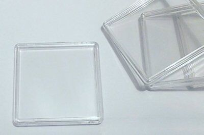 12 x Square QUADRUM Acrylic Capsules / Coin Collector's Case Display Holders