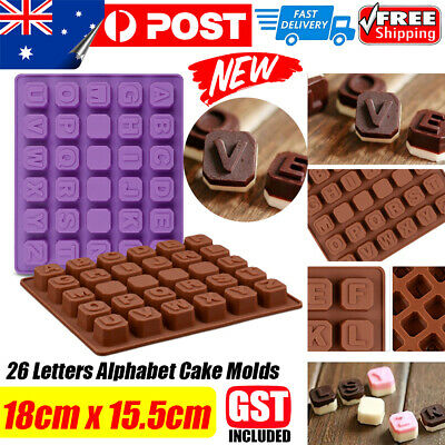 3D Letter Alphab ilicone Mold Cake Chocolate Ice Cube Tray Baking Mould Tool DIY