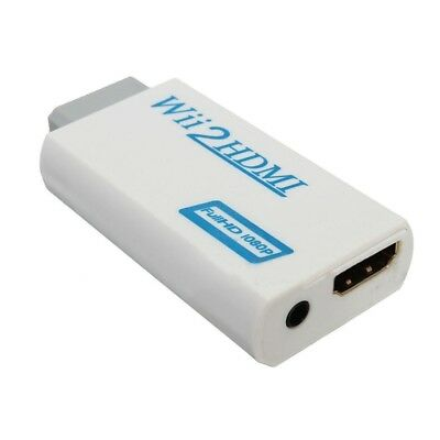 Wii to HDMI Wii2HDMI Full HD FHD 1080P Converter Adapter 3.5mm Audio Output T4R4