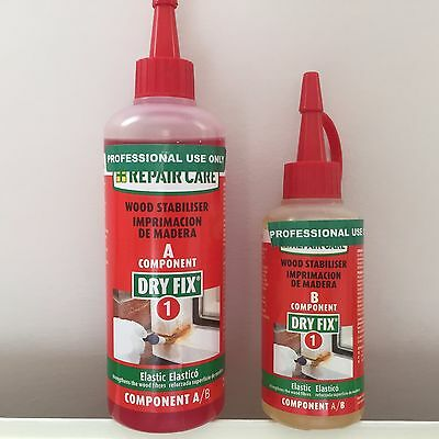 Repair Care Wood Stabiliser - Window Care Dry Fix 1 - Components A & B - New