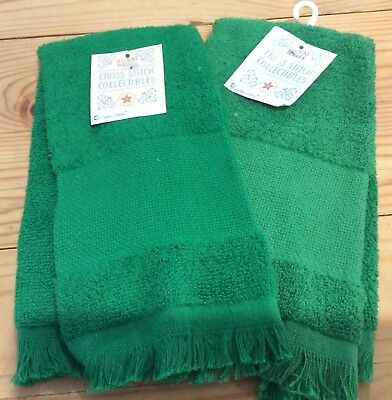 hand towel to cross stitch with 14 count aida band