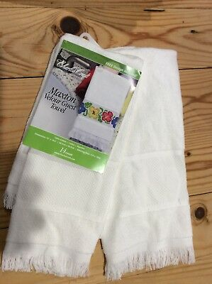 hand towel to cross stitch with 14 count aida band x2