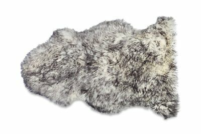 100% Genuine Sheepskin Rug 100*60CM XL Black tip