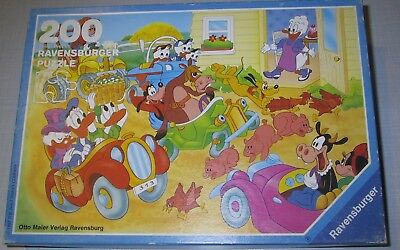 Ravensburger Puzzle 200 Disney Comic-Cars Besuch bei Oma Duck Donald Dagobert Ti