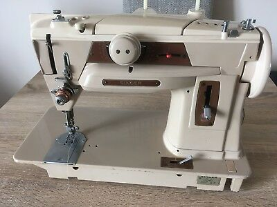 Vintage 1950's Singer 401 Slant-o-matic Sewing Machine - Spares Or Repairs