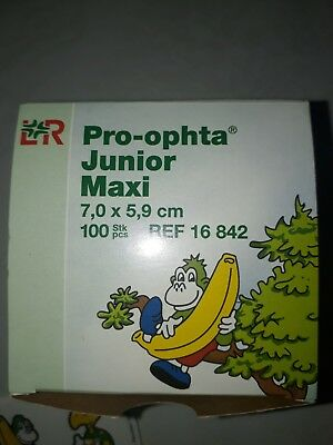 PRO-OPHTA JUNIOR MAXI (81 Stk.) Augenpflaster neutral +100 Sticker