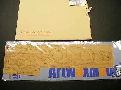 1/350 USS New Jersey White Ensign Photo-Etch, Artwox Wooden Deck for Tamiya