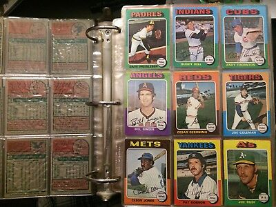 1975 Topps Baseball Vintage Set Break U Pick your Player. Cards 1-250 EX/EXMT