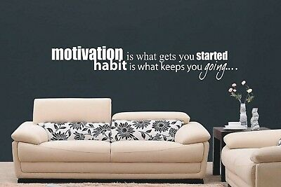 Motivation is What Wall Art Sticker Quote - 3 sizes - Bedroom wall 023
