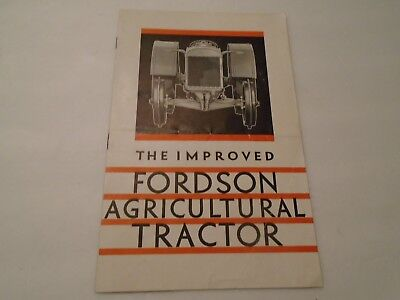 Vintage The Improved Fordson Agricultural Tractor Brochure 8 Pages