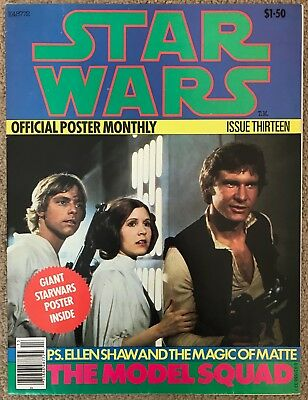 Vintage Star Wars Official Poster Monthly Magazine Issue 13 Lot 1