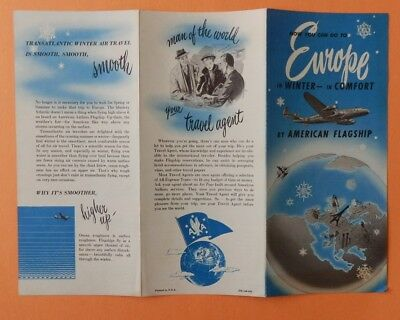 Vintage United Airlines Flagship Brochure Europe In Winter