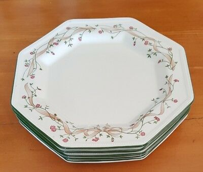 """Five 5 Johnson Brothers Eternal Beau 10"""" dinner plates excellent used condition"""