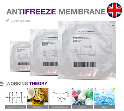 Genuine Anti Freeze Pads Cryo Membranes Lipolysis slim Weight FAT Loss Cool UK