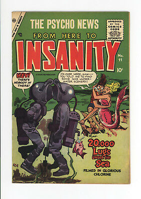 From Here To Insanity #11 - Extremely Rare Issue - 1955 Simon & Kirby - Nice!