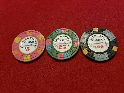 Emerald Princess Casino ~ Casino Chips ~ set of 3