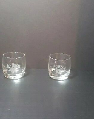 JIM BEAM 8 ounce Whiskey Rocks Glasses set of 2