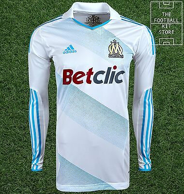 Olympique Marseille Home Shirt - Adidas Player Issue Techfit Jersey - XL