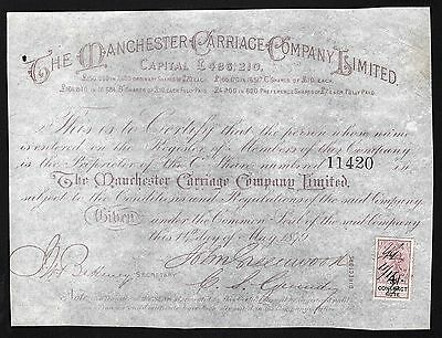 1879 England: The Manchester Carriage Company